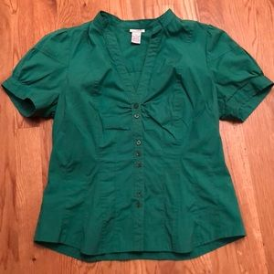 Anthropologie Odille Green Top